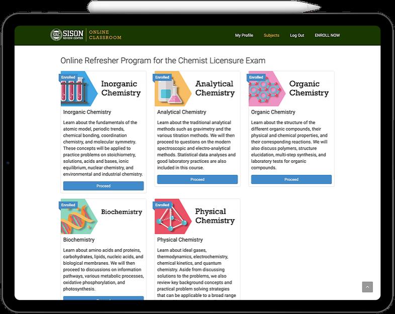 Online Refresher Program for the Chemist Licensure Exam